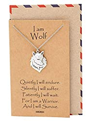 Quan Jewelry Wolf Necklace, Nature Inspired Pendants, Inspirational Gifts, Wolf Spirit Necklace
