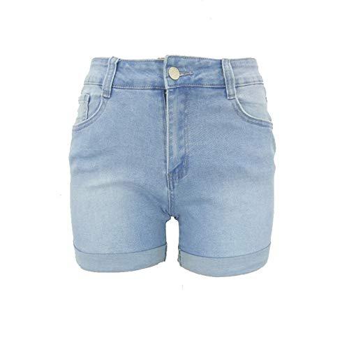 Pantalones Cortos Deportivos básicos de Cintura Alta para Mujer XS