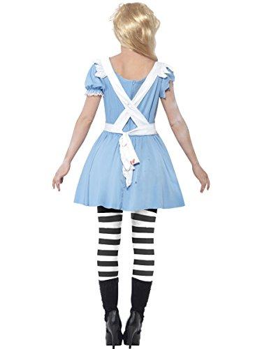 Smiffys Costume Zombie Malizia, comprende Abito, Dettaglio in Lattice sul Petto, Grembiu