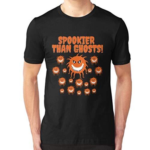 Virus Spookier Than Ghosts C-oro-nav-ir-us Halloween Quarantine Lockdown Co-v-id V-iru-s Pandemic Slim Fit Personalized Unisex T-Shirt, Youth Shirts, Hoodie, Sweatshirt for Men Women Kids