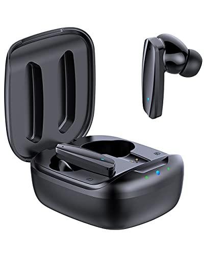 Guanda Wireless Earbuds, True Bluetooth 5.0 with Charging Case, Voice Assistant, in-Ear Waterproof TWS Stereo Headphones, Built-in Mic, Premium Sound Earphones, Deep Bass, HiFi Audio, Sports