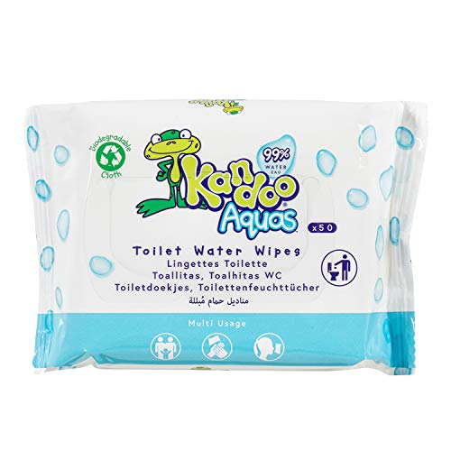 KANDOO Pack de 50 Lingettes Toilette Multi-Usage 99 % Eau Aquas - Lot de 6 S890024