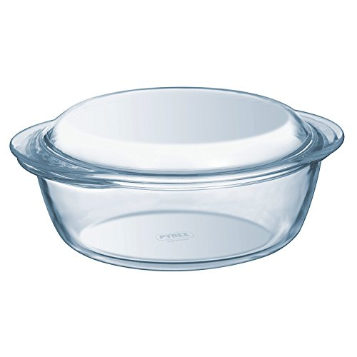 Pyrex - Casserole ronde en verre Essentials Haute résistance 1,1 L (+ 0.3L Lid)