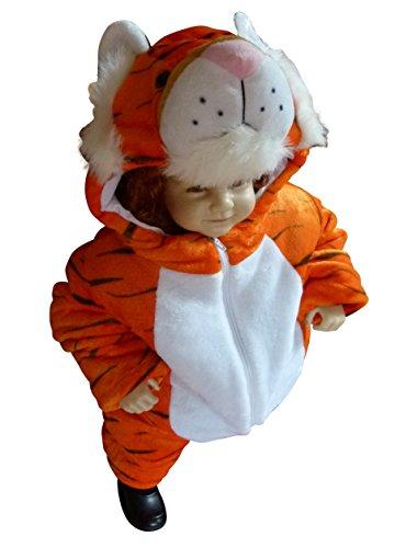 F94 Taglia 12-18M (80-86cm) Costume da Tigre per bambini e neonati, indossabile comodamente sui vestiti normali