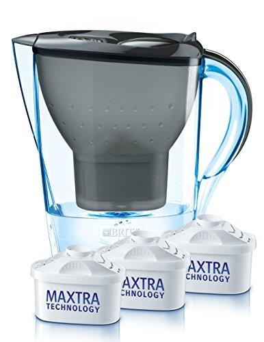 Brita 48259 Wasserfilter Marella Cool, Starterpaket inklusive 3 Kartuschen, graphit