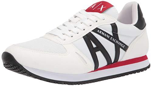 Armani Exchange - Zapatillas deportivas multicolores de microgamuza para hombre Blanco Size: 42 EU