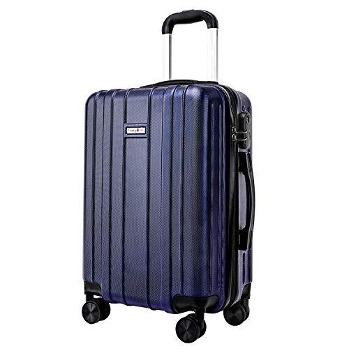CarryOne Reise-Gepäck, ABS, Hartschale, ultraleicht, mit Handgepäck und 4 drehbaren Rollen, TD3 Blau blau 20IN