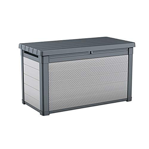 Ondis24 Keter Premier 200 G Kissenbox XXL Auflagenbox anthrazit 870 Liter mit Gasdruckfedern ca. 146 x 82 x 86 (H) cm (Premier)