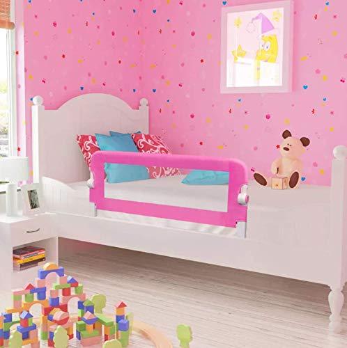 1st Safety Bettschutzgitter, Bettgitter Rausfallschutz beim Schlafen Klappbar passend für Baby-Kinder-Eltern-Bette (102x42cm, Rosa)