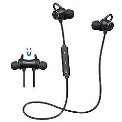 【Conception avec fermeture magnétique】: Écouteurs Bluetooth 5.0, conçus intra auriculaires obliquement et les crochets d'oreille en silicone offrent un ajustement stable avec votre oreillette avec design ergonomique, les embouts doux en silicone prot...