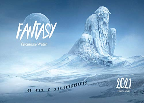 Edition Seidel Fantasy Premium Kalender 2021 DIN A3 Wandkalender Phantasiewelten Science-Fiction