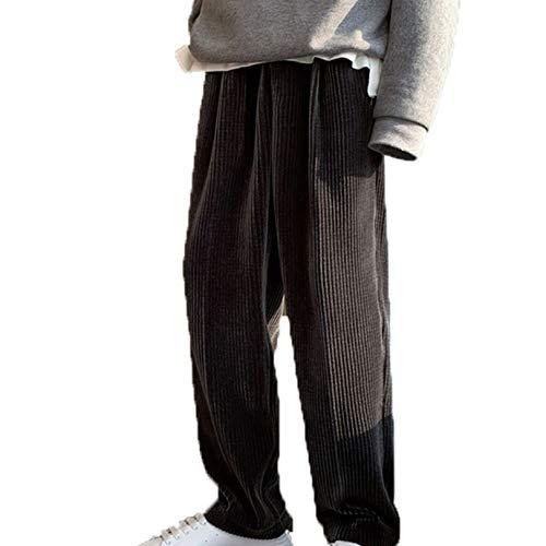 Generic11 Pantaloni Lunghi da Uomo in Velluto a Coste Pantaloni Larghi Larghi per la Pelle Pantaloni per Il Tempo Libero Resistenti all'Usura a Gamba Dritta