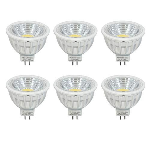 DC12V 5.5W Dimmbar GU5.3 MR16 LED Lampe Ersetzt 50-60W 550LM Neutralweiss 4000K Ra90,90°Abstrahlwinkel,6er Pack.