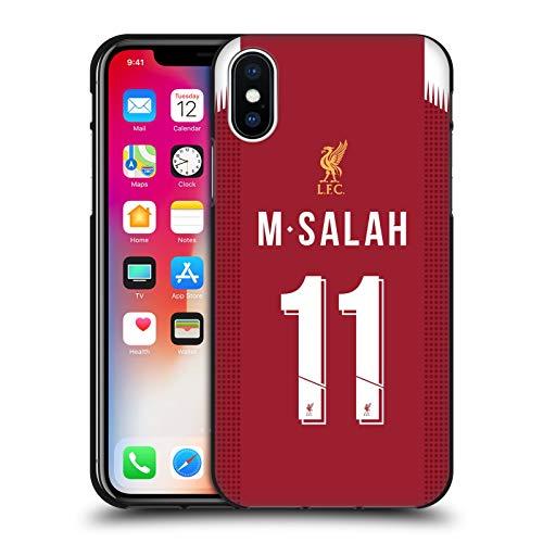 Head Case Designs Offizielle Liverpool Football Club Mohamed Salah 2019/20 Spieler Home Kit Gruppe 1 Schwarze Soft Gel Huelle kompatibel mit Apple iPhone X/iPhone XS