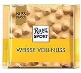 Barra de chocolate blanco | Ritter Sport | Avellana Entera Blanca | Peso total 100 gramos