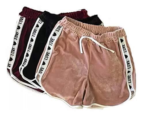 Kit 10 Shorts Casual Veludo Love Shortinho Feminino Variados