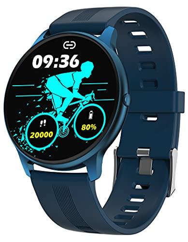 Sportuhren Damen Herren Smartwatch Laufuhr Pulsmesser Aktivitätstracker mit personalisiertem Bildschirm Armbanduhr Uhren Blutdruck Schrittzähler Uhr Sportuhr Smart Watch Android IOS Fitness Tracker
