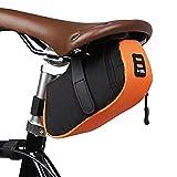 Timetries HENGSONG Bicycle Saddle Bag, Rear Bike Saddle Bag Tail Pack Under Road Seat Bag for Mountain Bike Cycling Cycling, Orange