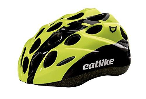 Catlike Kitten SV Casco de Ciclismo, Unisex niños, Negro (Black/Yellow Fluor), SM