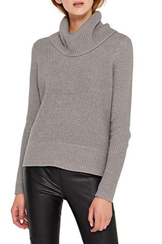 edc by ESPRIT Damen 109CC1I020 Pullover, Grau (Medium Grey 5 039), X-Small (Herstellergröße: XS)