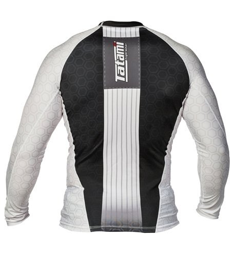 Tatami Ranked Long Sleeve Rash Guards - White - XXL