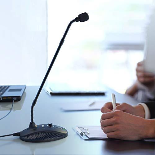 FIFINEUSBマイクフレキシブルマイクコンデンサーマイクグースネックアーム搭載ミュート機能付き音量調節可能単一指向性PC用マイクネット通話ライブ配信ゲーム実況在宅勤務テレワークWindows/Mac/PS4対応K052