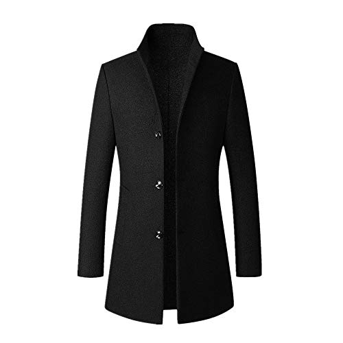 Hotopick Heren mantel Casual Trenchcoat winkel lange slanke mantel jas outwear winter jassen heren lang wintermantel mantel heren lang