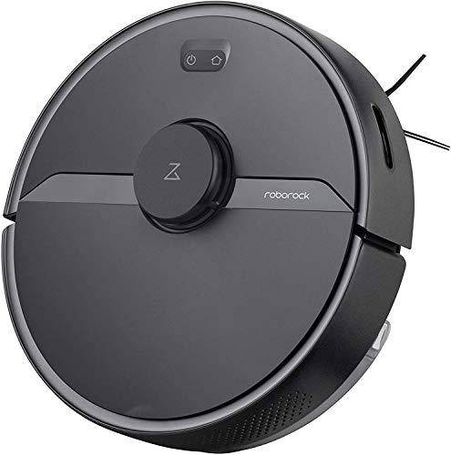 Robo rock Roborock S6 Pure R100004 - Robot Aspirador con Gran depósito de Agua, Zonas de Bloqueo para pelos de Animales y Suelos Duros, Color Negro