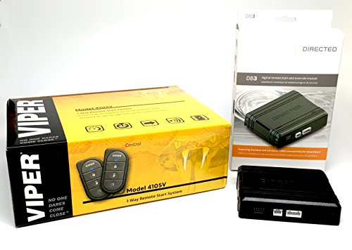 Click & ADD Viper 4105V Remote Car Starter 1-Way Two 4-Button Remotes Keyless New 2017 Model & Directed DB3 XPressKit DEI Databus All Combo Bypass/Door Lock Interface Bundle Package
