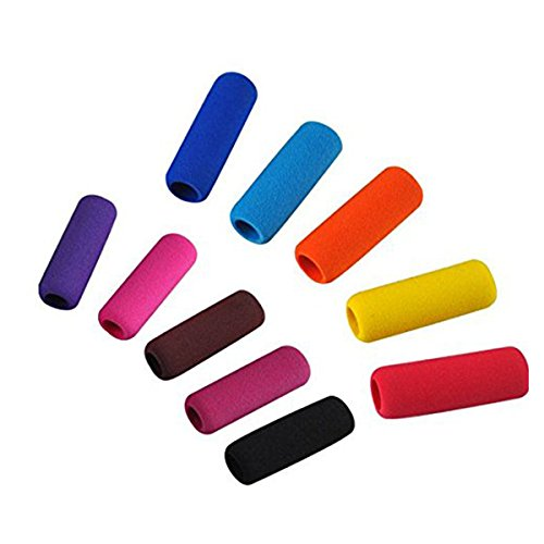 Ultnice Soft-Pencil-Griffe, universal, aus weichem Schaumstoff, zufällige Farben, mit Fingerschutz für Kinder, 10 Stück