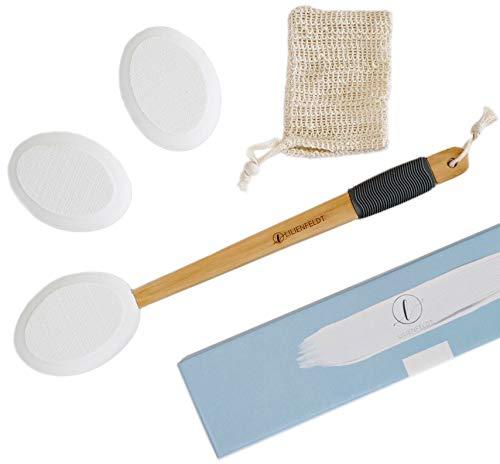 LILIENFELDT Aplicador de loción de madera. Ideal para crema, ungüento, loción solar, aceite de masaje. Mango largo para zonas de difícil acceso.