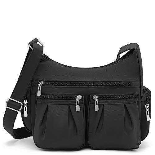Scarleton Multi Pocket Shoulder handbag for Women, Handbags for women, Purses for Women, Crossbody Bags for Women, H140701 - Black