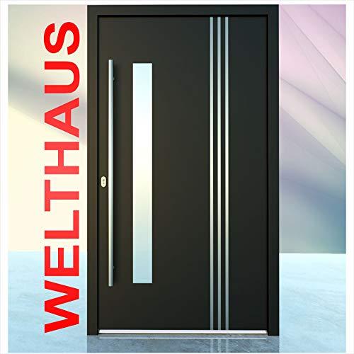 Haustür Welthaus WH75 Standard Aluminium mit Kunststoff LA122 Bremen Tür 1100x2100mm DIN Links Farbe aussen anthrazit Innen weiß außengriff BGR1400 innendrucker M45 Zylinder 5 Schlüßel