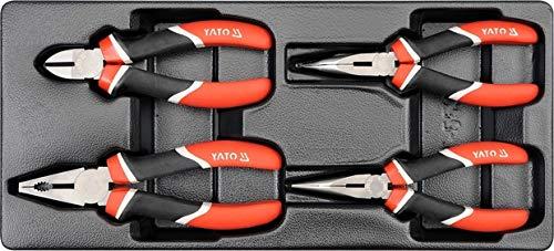 YATO YT-5534 - bandeja de plástico con pinzas 4pcs