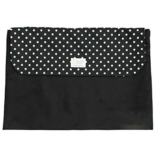 防災頭巾カバー 名入れ無料 小学生 幼児 背もたれ 座布団 日本製 男の子 女の子 防災グッズ (ドットブラック) 刺繍