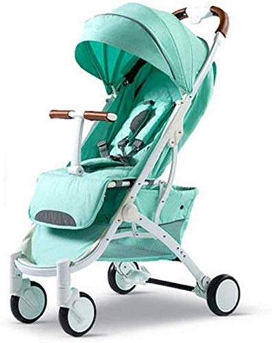 Fantastic Deal! TZZ Portable Folding Baby Stroller Pushchair Buggy with 5-Point Harness for Newborn,...