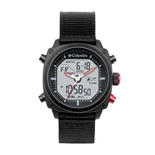 Columbia Ridge Runner Edelstahl Quarz Uhr mit Nylonband, schwarz, 22 (Modell: CSC05-003)