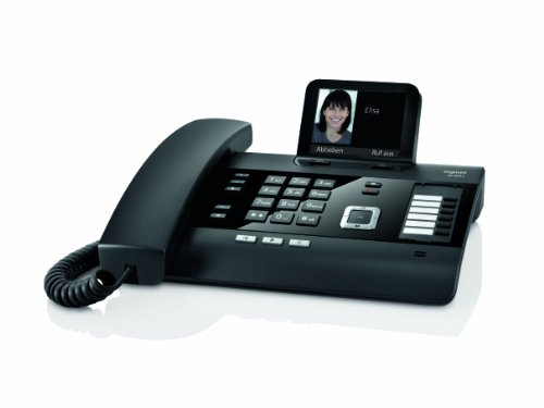 Gigaset DL500A schnurgebundenes Komforttelefon mit Anrufbeantworter und integrierter Dect Basisstation, schwarz - 3