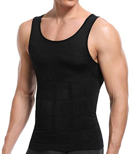 SLIMEBLLE® Hombre Camiseta Moldeadora Chaleco Reductora de Tirantes Elástica Ropa Interior Adelgazante Mens Shapewear