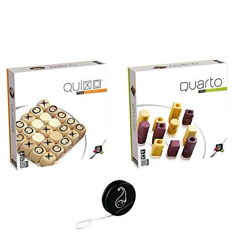 Juego de 2 juegos Gigamic: Quixo Mini + Quarto Mini+ 1 Yoyo