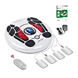 EMS and TENS Foot Circulation Stimulator Machine,Legs and Foot Massager Devices (FSA or HSA Eligible) Nerve Muscle Stimulator to Help Feet Circulation, Pain Relief, Neuropathy and Reduces Swelling