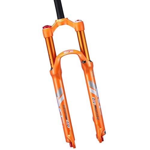 Horquilla de Bicicleta MTB Ultraligero Control de Hombro Aluminum Alloy 26 27.5 29 Inch Mountain Bike Horquilla de Air Suspensión Recorrido: 100 mm (Color : C, Size : 26 Inch)