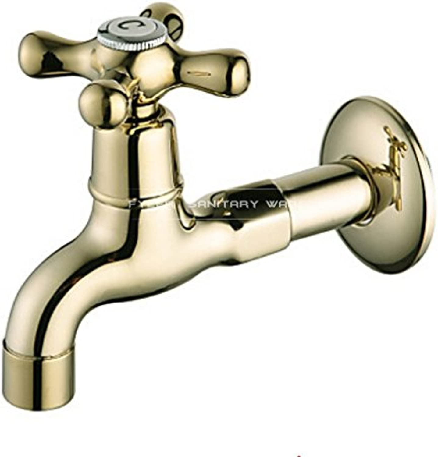 Maifeini Continental Single Cold Water Mixing Valve Brass Faucets _ Little Mouth Single Handle Faucet