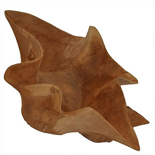 Deko-Schale aus Teakwurzel, Sternform Teak Holz Dekoschale Dekoration Stern