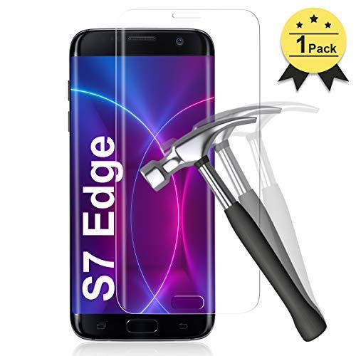 YIEASY 1-Stück Panzerglas Schutzfolie für Samsung Galaxy S7 Edge, [9H Härte] HD Displayschutzfolie für Samsung Galaxy S7 Edge Panzerglasfolie, [Ultra Klar] Anti-Bläschen Anti-Kratzen Gehärtetem Glas