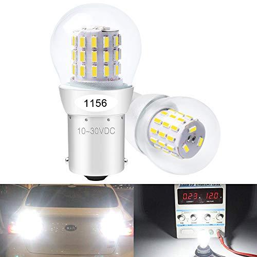 DEFVNSY - Paquete de 2 - Blanco P21W 1156 BA15S 1141 1003 7506 1073 Bombillas LED 3014 39SMD Extremadamente Brillantes para Luces traseras traseras Luz de circulación Diurna - 10-30 V DC