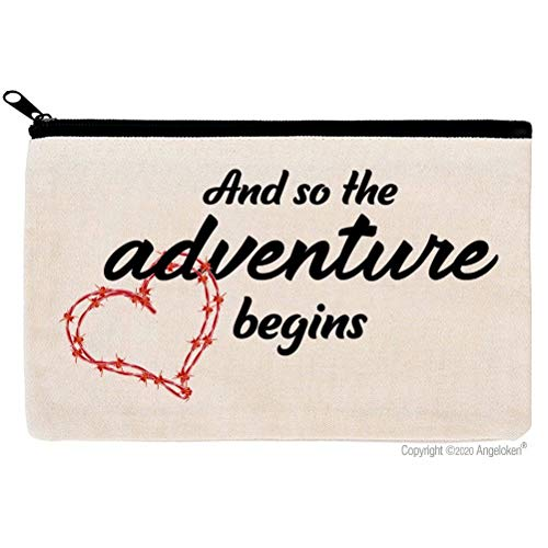 Cosmetic Bags And So The Adventure Begins Travel Bag For Honeymoon Engagement Gifts Wedding Gifts, Bride GIfts, Birthday Gifts, Graduation, Promotion, Going Away, Moving Away, New Job, Divorce