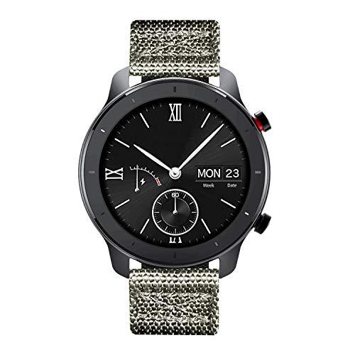 BINLUN Bandas de Reloj compatibles con Amazfit Bip/GTS/GTR 42mm 47mm, Amazfit Pace/Stratos Smartwatch NATO Zulu Nylon Thick G10 Reemplazo Original de Correas balísticas Premium 20mm 22mm