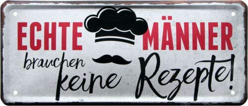 Heller 1801 Plaque décorative en tôle pour Homme 28 x 12 cm