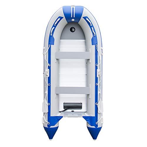 GUOE-YKGM Kayak Faltbares Kajak-Gummiboot - 8-Personen-Schlauchboot-Set Mit Schlauchboot, Aluminium-Rudern Und Fußpumpe - Angler Und Freizeitsportler Sitzen Auf Leichtem Angelkajak In Blau Oder Weiß